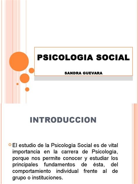 Naturaleza de La Psicologia Social Psicología social
