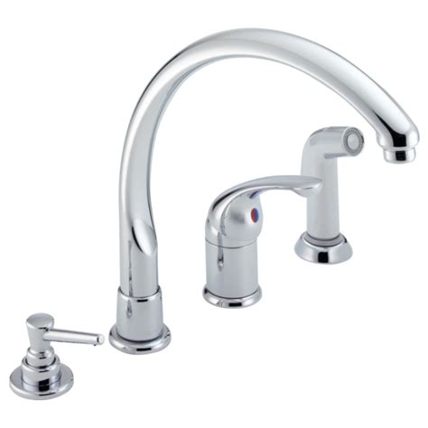 Delta Single Handle Kitchen Faucet by Single Handle Kitchen Faucet With Spray Soap Dispenser