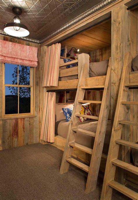 built  bunk beds   rustic kids    bed
