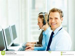 Stock Photo: Happy Business people working on a computer ...
