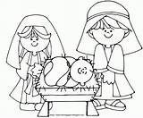 Coloring Jesus Birth Pages Adults Popular Template sketch template
