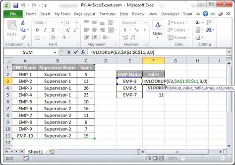 vlookup formula pk  excel expert