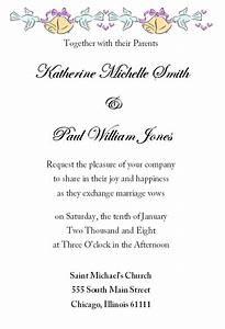 Wedding invitation letter template stopboris Images