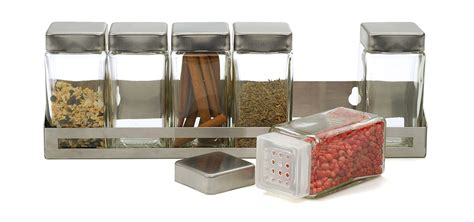 Spice Rack With Empty Jars by Rsvp Herb Spice Rack W 6 Glass Bottles Jars 18 10
