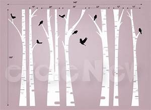 birch trees wall decal contemporary wall decals by With kitchen cabinets lowes with vinyl birch tree wall art