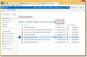 Onedrive for business part 3 collaboration 4sysops for Documents folder to onedrive