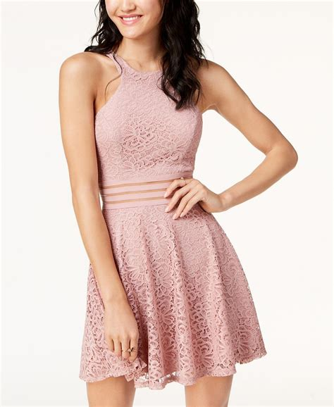 city studios juniors lace fit flare dress reviews