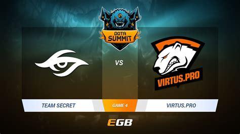 Team Secret Vs Virtuspro, Game 4, Dota Summit 7 Lanfinal
