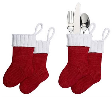 christmas entertaining flatware stockings set