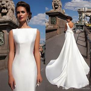 the 25 best satin wedding gowns ideas on pinterest With simple fitted wedding dresses