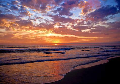 Australia Sunrise Sunset Beach Photo Ocean Art Seascape A1
