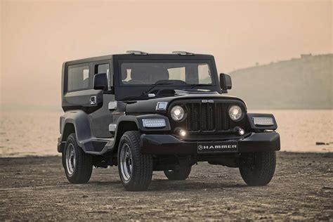thar jeep dc design hammer a modified mahindra thar autobics