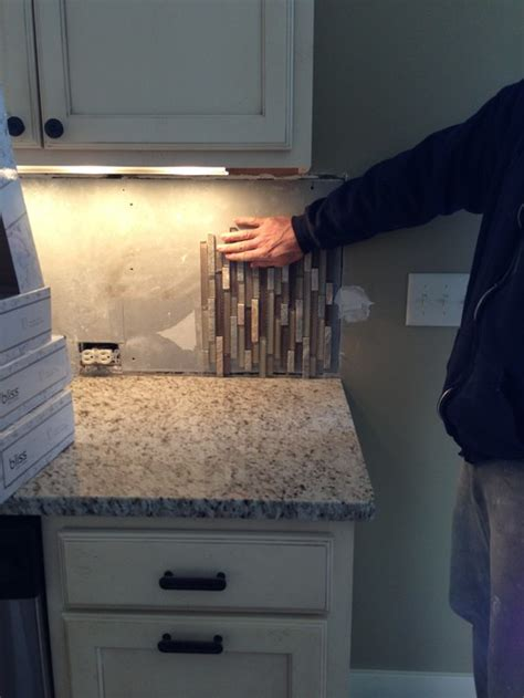 vertical  horizontal backsplash