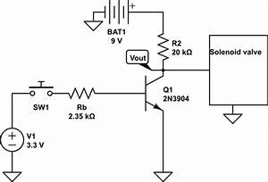 Npn - Transistor Used As Switch Not Working When Connecting A Water Solenoid Valve