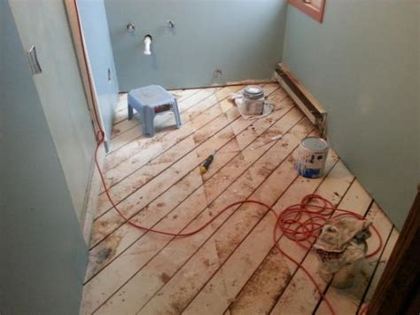 subfloor planks on installing plywood and backer board over existing subfloor planks doityourself com