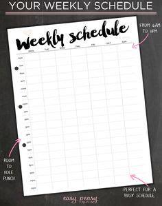 printable work schedules weekly employee work