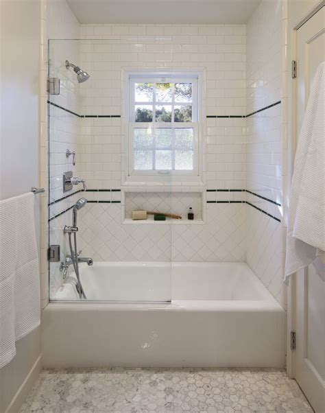 Classic 1930's Tile Work For Shower Traditional