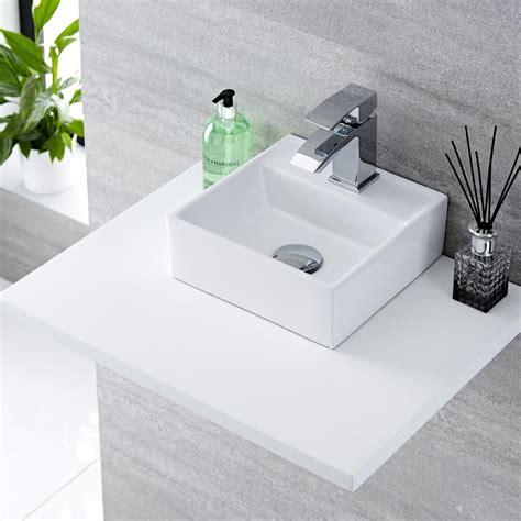 Lavabi D Appoggio In Ceramica Per Il Bagno Lavabo Bagno Da Appoggio Quadrato In Ceramica 280x280mm