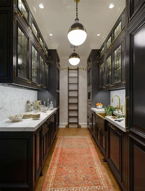 black galley style kitchen features  row  hicks