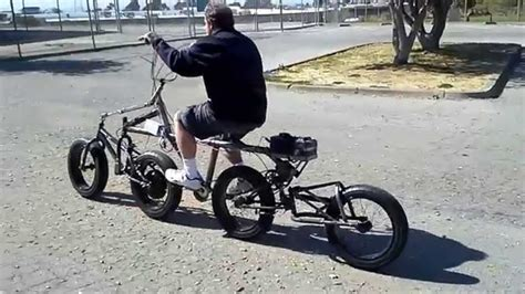 4 Wheel Inline Electric Bicycle