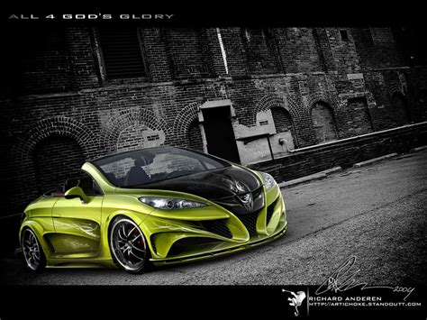 awesome peugeot car awesome photoshop custom cars by richard andersen