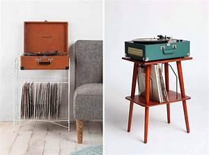Meuble Pour Vinyle : meuble range vinyles vintage ~ Teatrodelosmanantiales.com Idées de Décoration