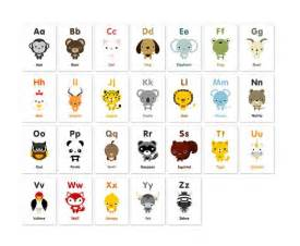 animal alphabet flash cards printable pdf print nursery and adorable animals