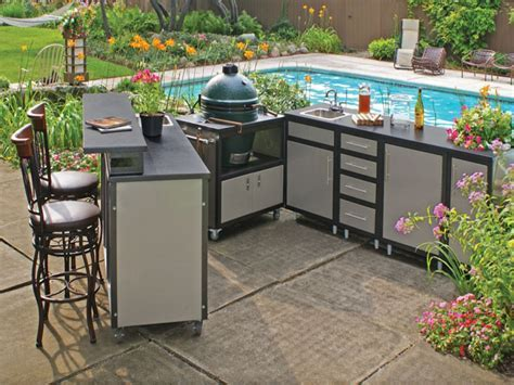 Outdoor furniture cabinet, outdoor kitchen kits steel