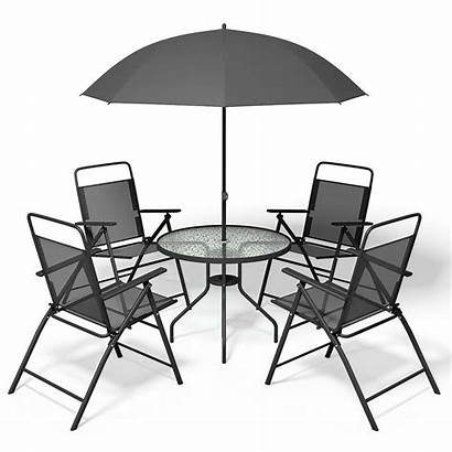 Patio Piece Umbrella Garden Steel Conversation Folding