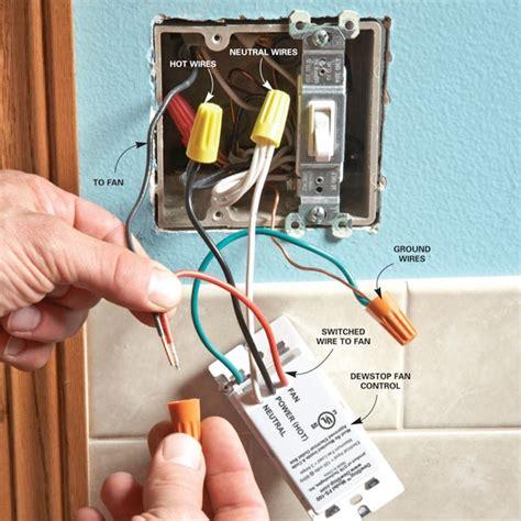 prevent mold   dewstop bathroom fan switch