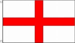 ST GEORGE CROSS FLAG 3' x 2' England English Saint Georges ...