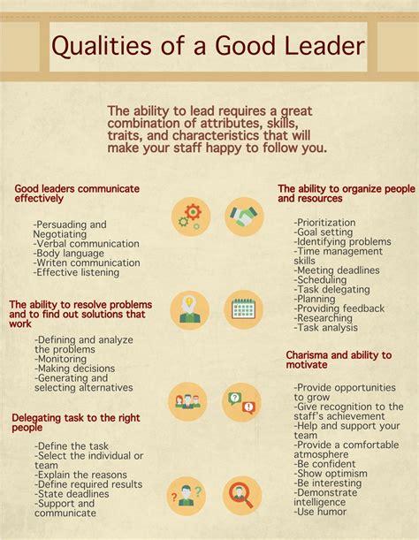 qualities   good leader visually