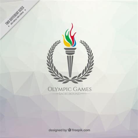 fond polygonal avec une torche jeux olympique t 233 l 233 charger des vecteurs gratuitement