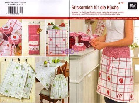 nappe de cuisine grille point croix livret 119 design broderies pour la cuisine
