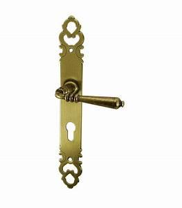 ensemble de poignees de porte d39entree lodeve en laiton With poignee porte entree ancienne