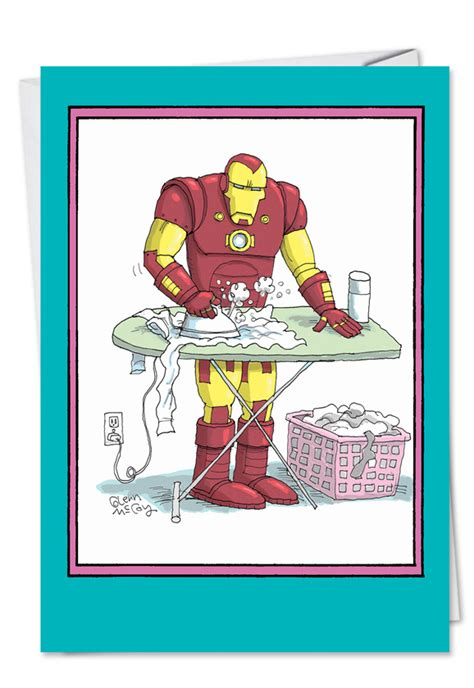 iron mom mothers day funny greeting card