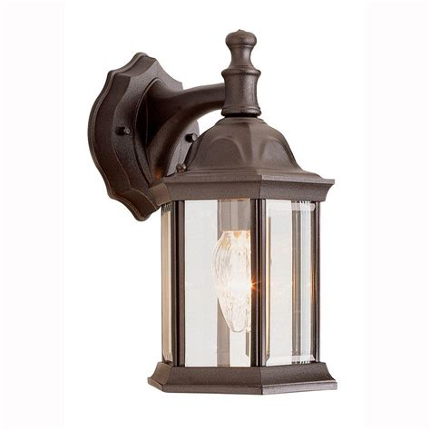 home depot outdoor lighting bel air lighting pentagon 1 light outdoor rust coach