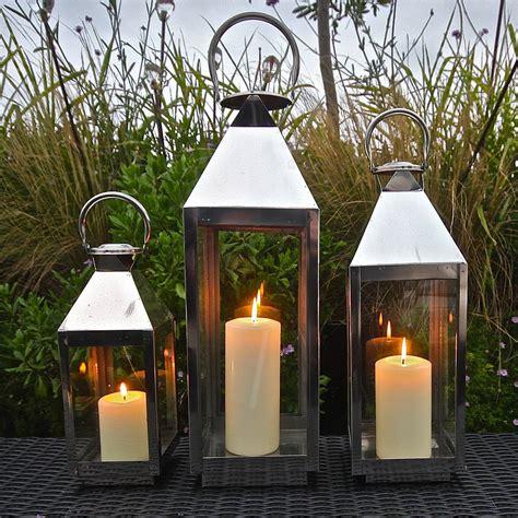 st mawes hurricane garden lantern by garden trading