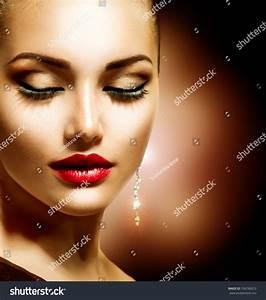 Beauty Woman Perfect Makeup Beautiful Professional Stock ...
