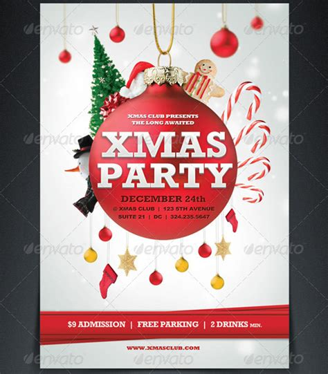 free christmas party template flyers flyer and on