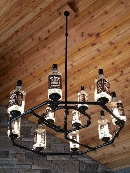 diy man cave lighting ideas jack daniels whiskey bottle