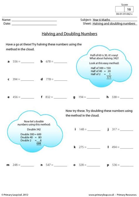 halving and doubling numbers primaryleap co uk