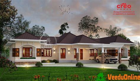sq ft single floor contemporary home designs kerala house design bungalow house design