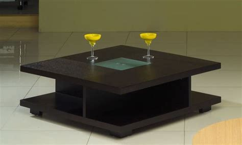 center table set design square black wood coffee table with glass center oceanside