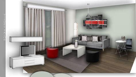 amenagement cuisine salon décoration salon et cuisine