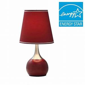 Ore international 23 in red high modern touch lamp k for F k a table lamp