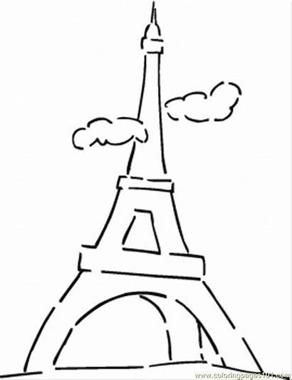 Coloring Tower Eiffel Pages France Flag French