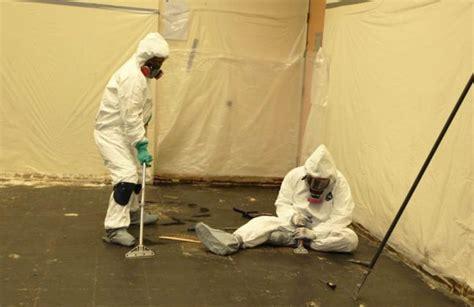 asbestos safety advice  flooring contractors