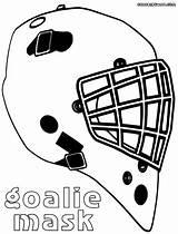 Goalie Mask Coloring Colorings sketch template