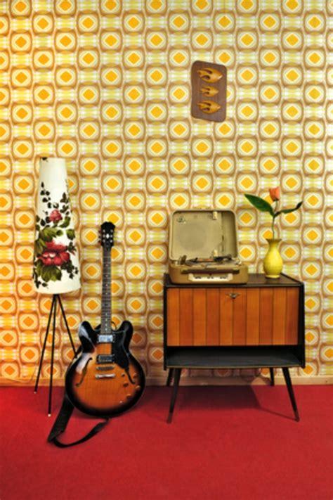 Ziemlich Retro Tapete Wohnzimmer Galerie Die